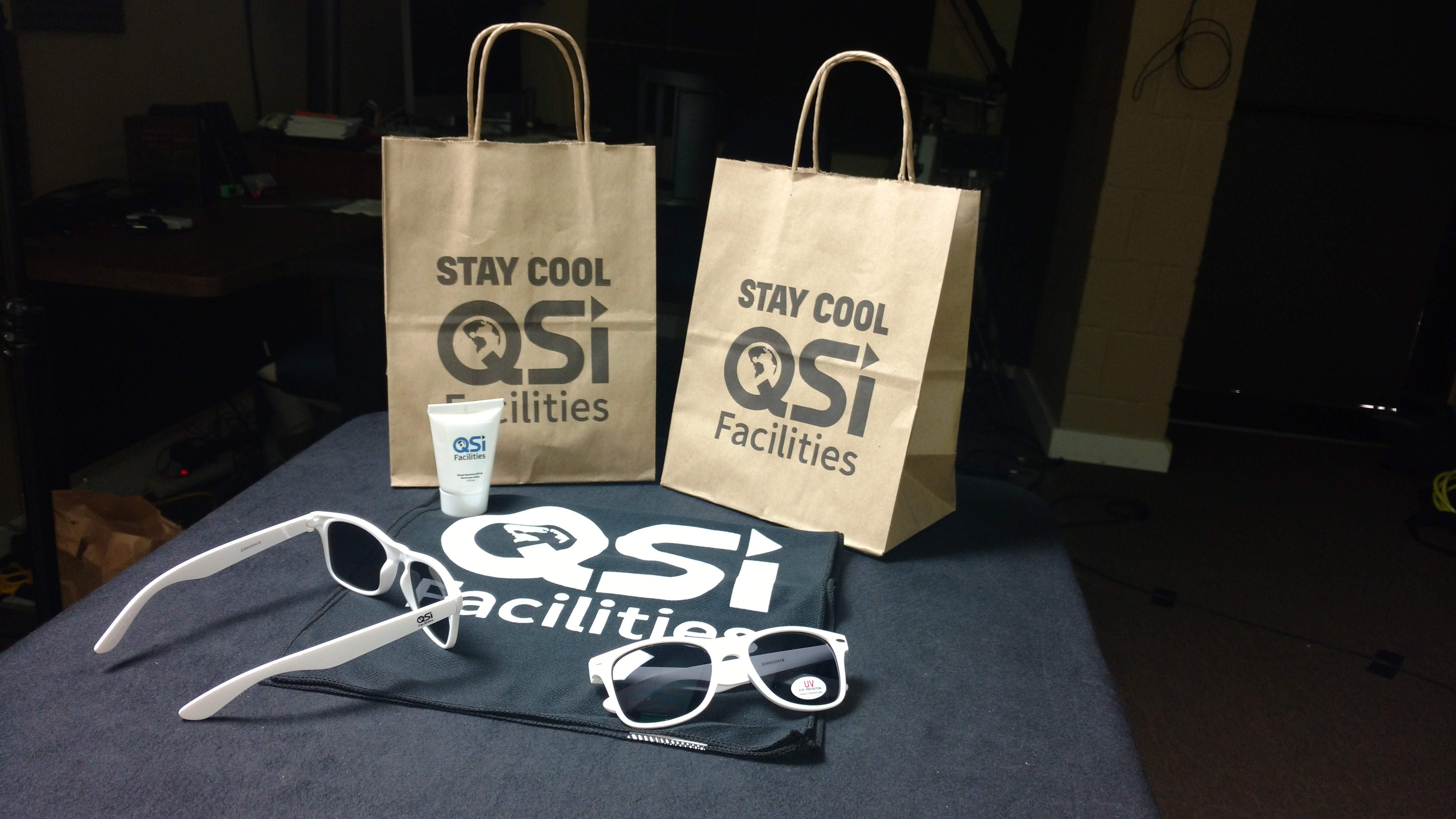 Quality Solutions Incorporated Logo'd Gift Bags