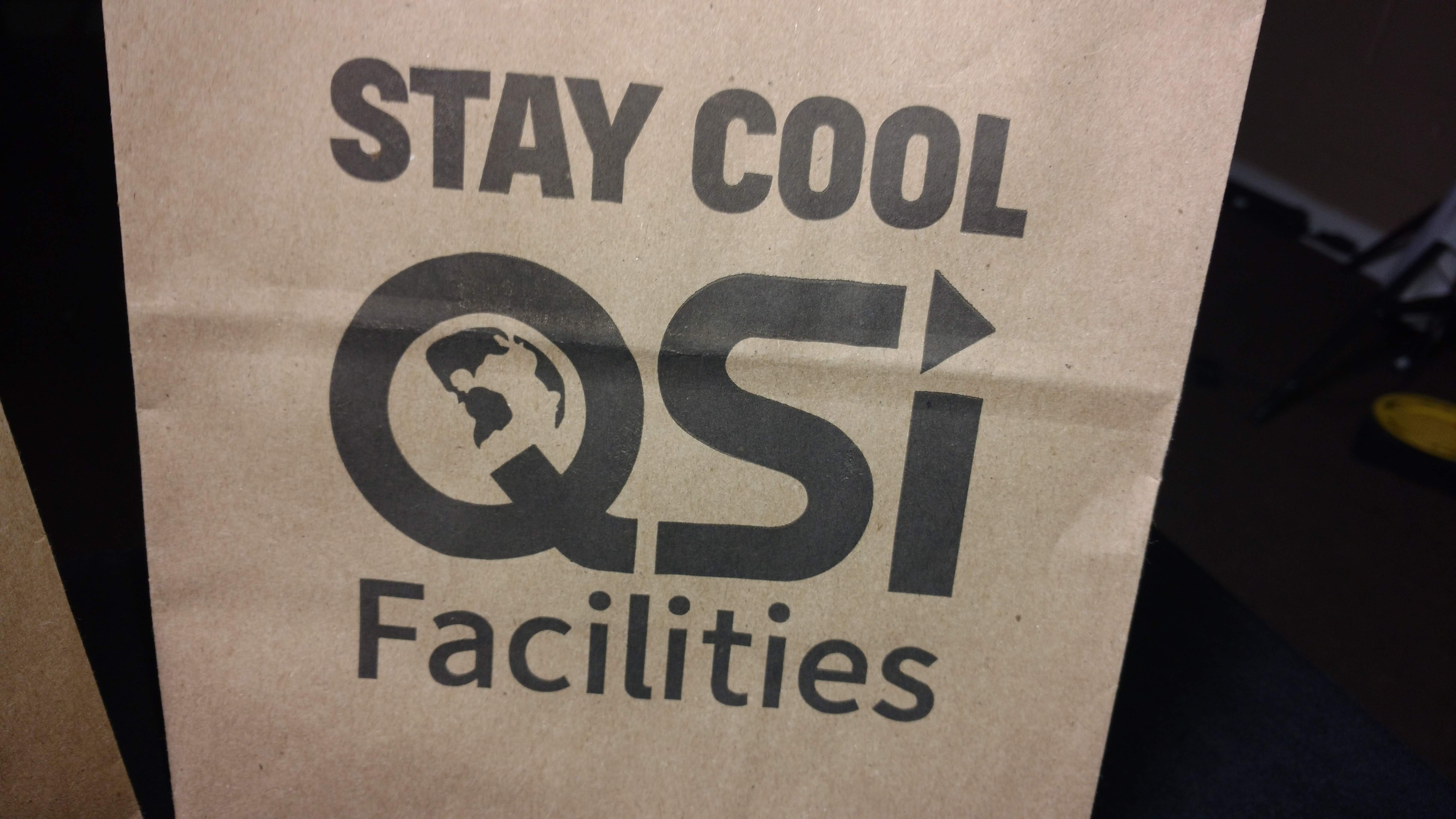 Quality Solutions Incorporated Logo'd Gift Bag Up Close View