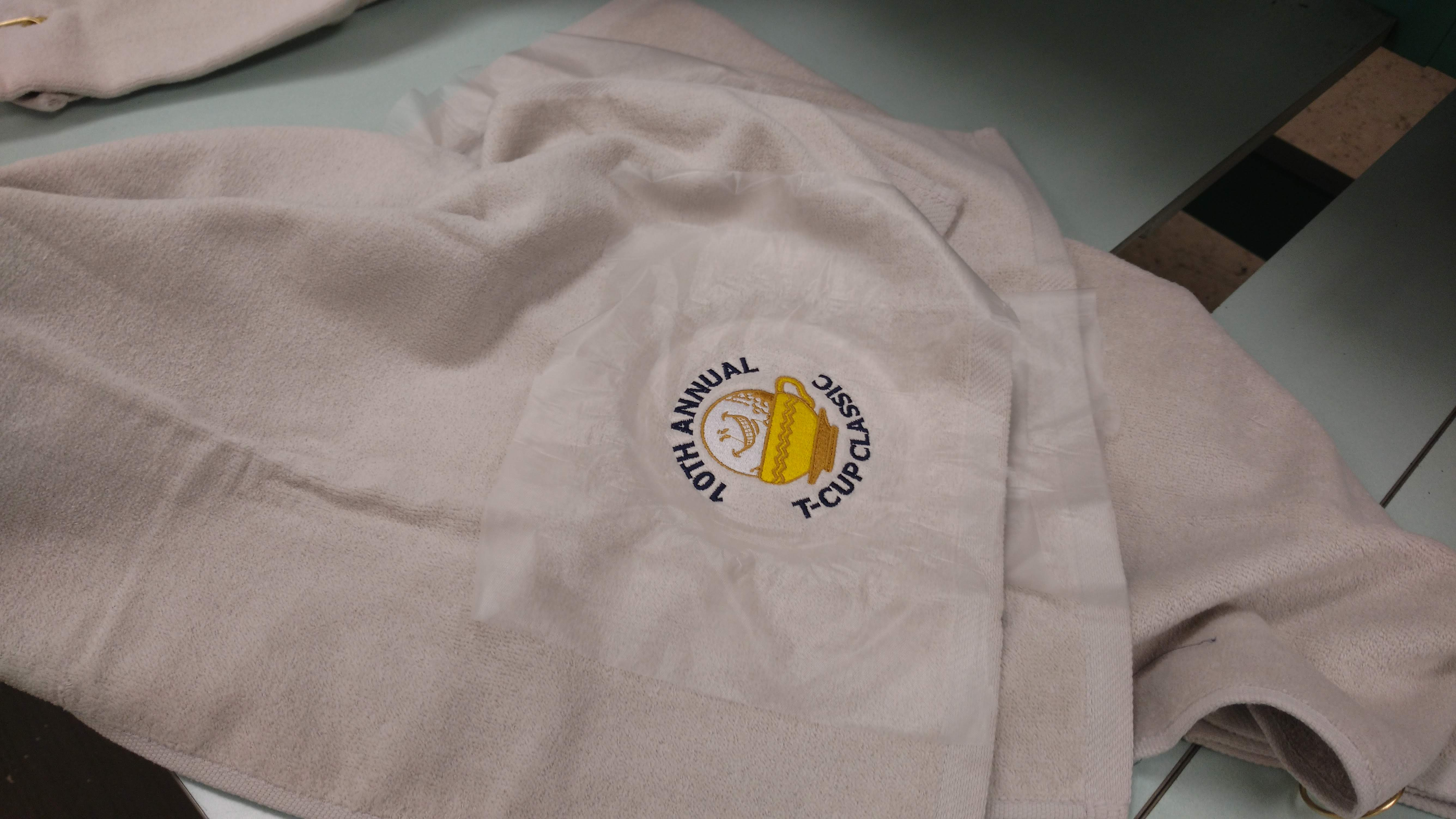 10 Annual T-Cup Classic Golf Tournament - Promotional Embroidered Golf Towels