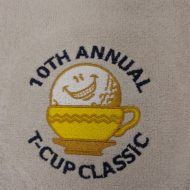 10 Annual T-Cup Classic Golf Tournament - Logo'd Promotional Embroidered Golf Towels