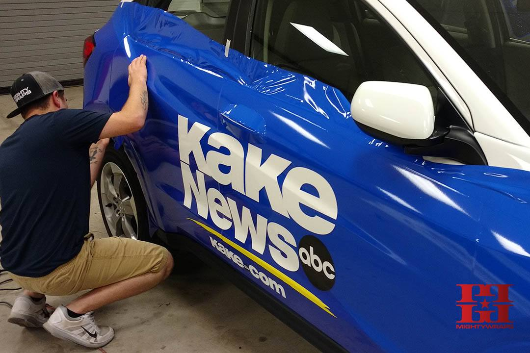 KAKE News Fleet Wrap Car