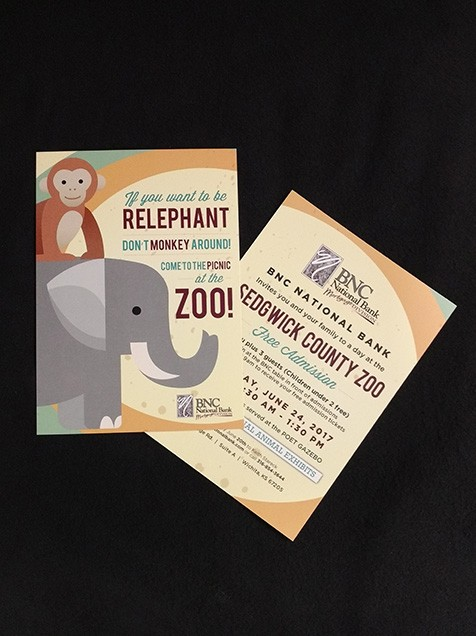 Print ad for picnic at the Sedgwick County Zoo - Wichita Kansas