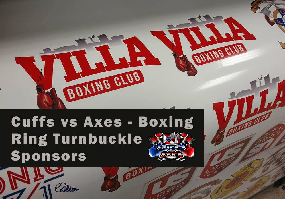 Printed Vinyl Decals for Boxing Ring Turn Buckle Covers