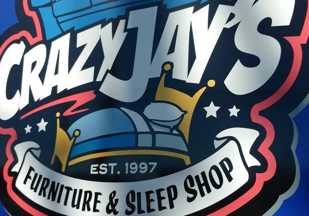 Crazy Jays Furniture and Sleep Shop Vinyl Wrap