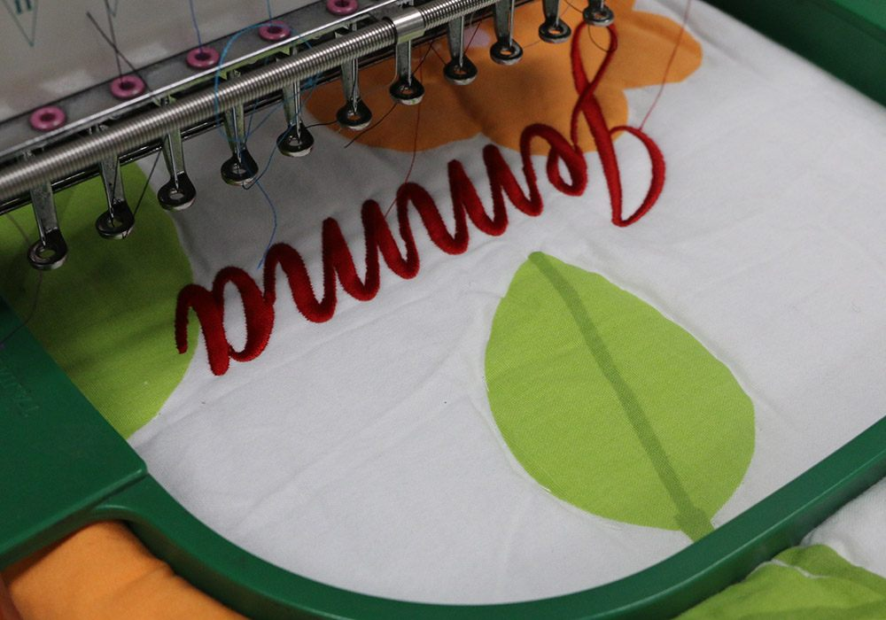 embroidered names on quilts