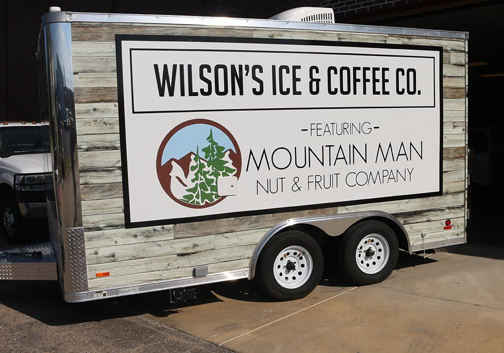 Wilson's Ice and Coffee Company Concession Trailer Wrap