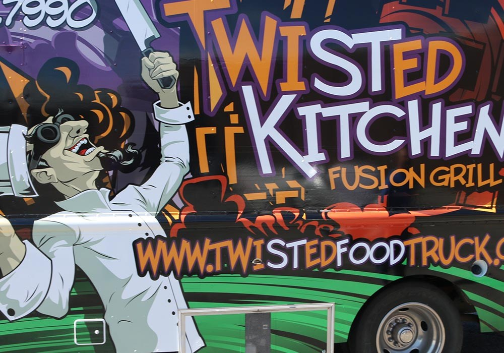 Food Truck Wraps - Twisted Kitchen