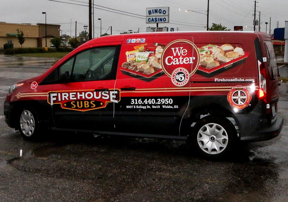 Food Truck Wrap - Firehouse Subs Catering Sprinter Van Wrap