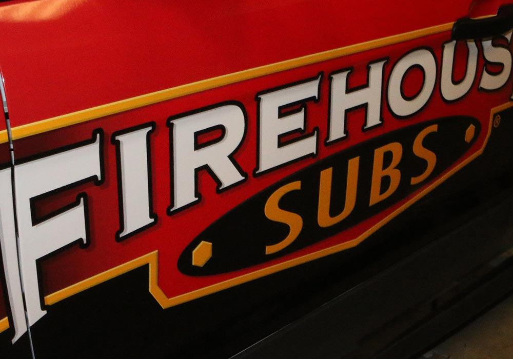 Professional Wrap Installation Fire House Subs Van Wrap