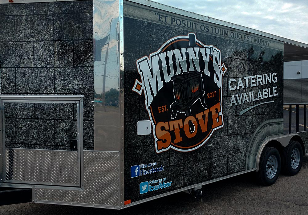 Munny's Stove Food Trailer by MightyWraps