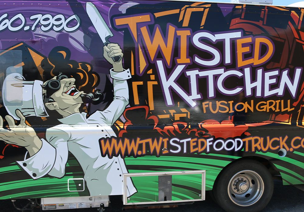 Twisted Kitchen Food Truck Wrap