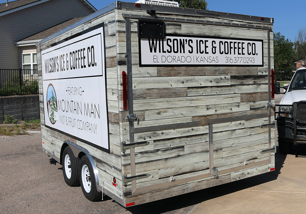 Coffee and Ice Food Truck Trailers