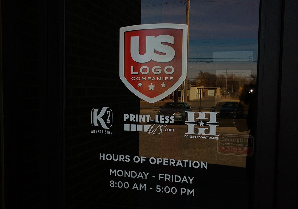 Custom Window Decals - US Logo Store Hours of Operation