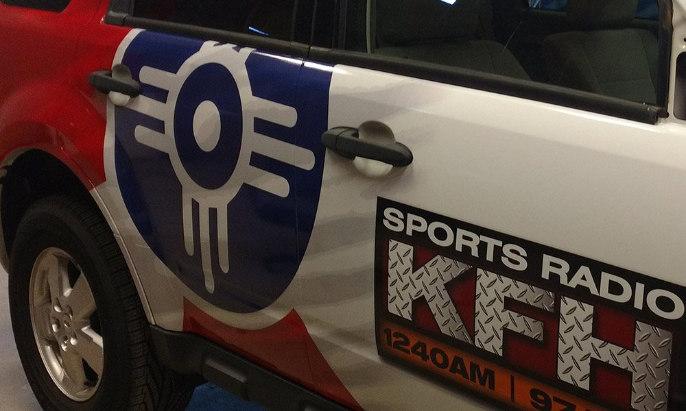 KFH 1240AM Nico Hernandez / Wichita Flag Full Coverage Vehicle Wrap