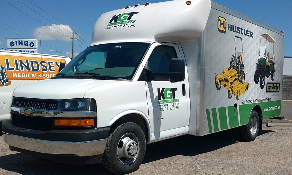 Kansas Golf and Turf Box Truck Partial Coverage Fleet Wraps
