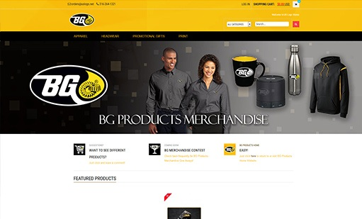 BG Products eCommerce Store