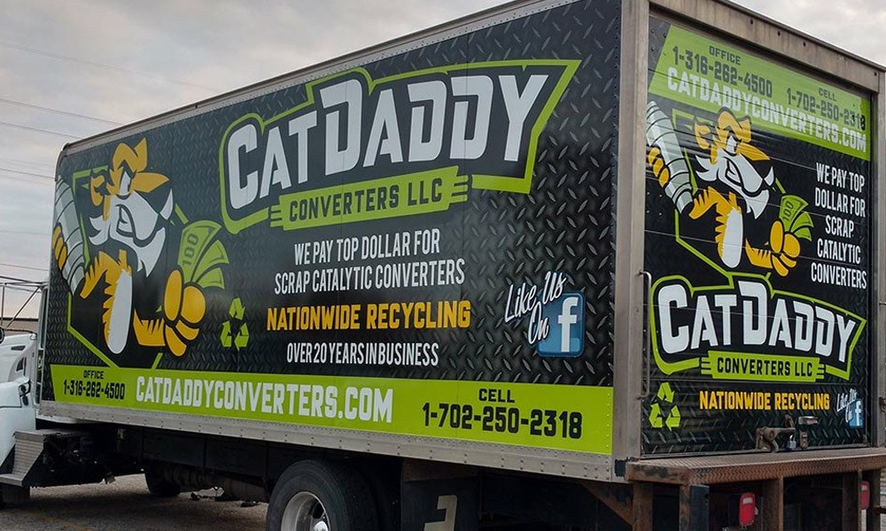 Cat Daddy Converters Semi Box Truck Wrap