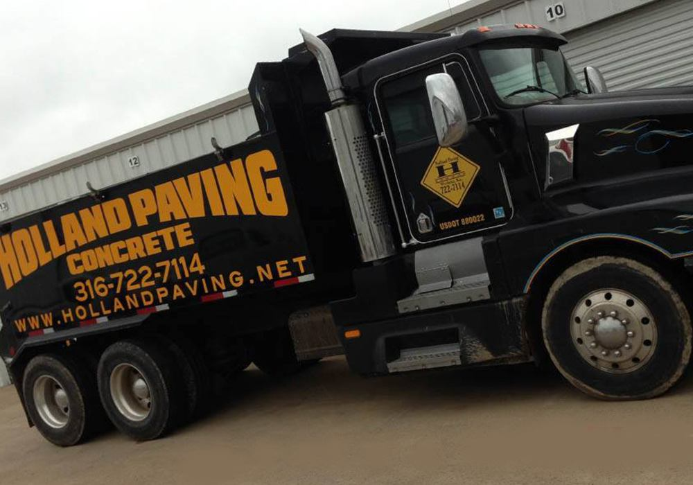 Holland Paving Dump Truck Wrap