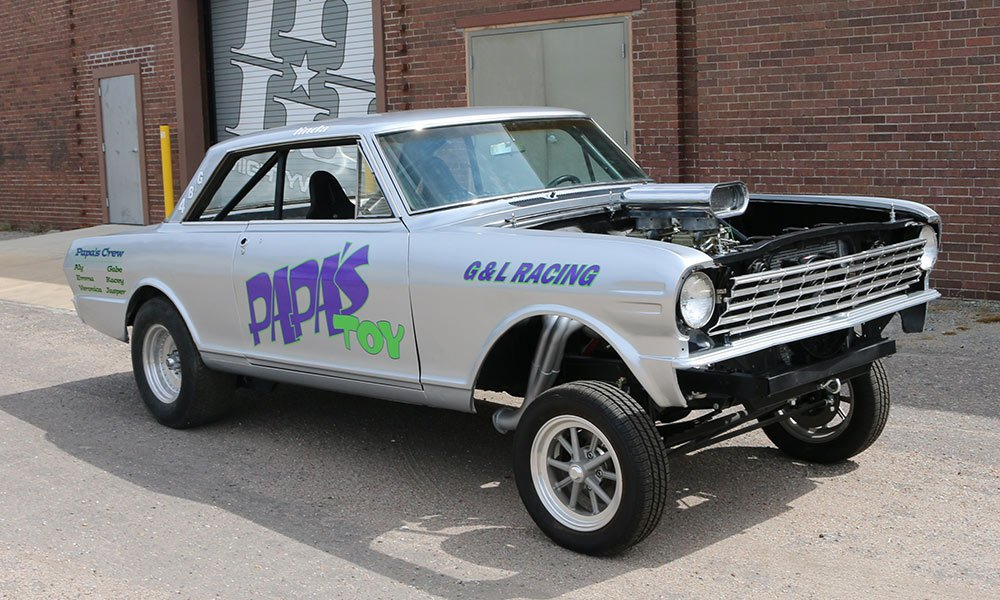 1965 Chevy Nova Vintage Dragster Full Coverage Car Wrap