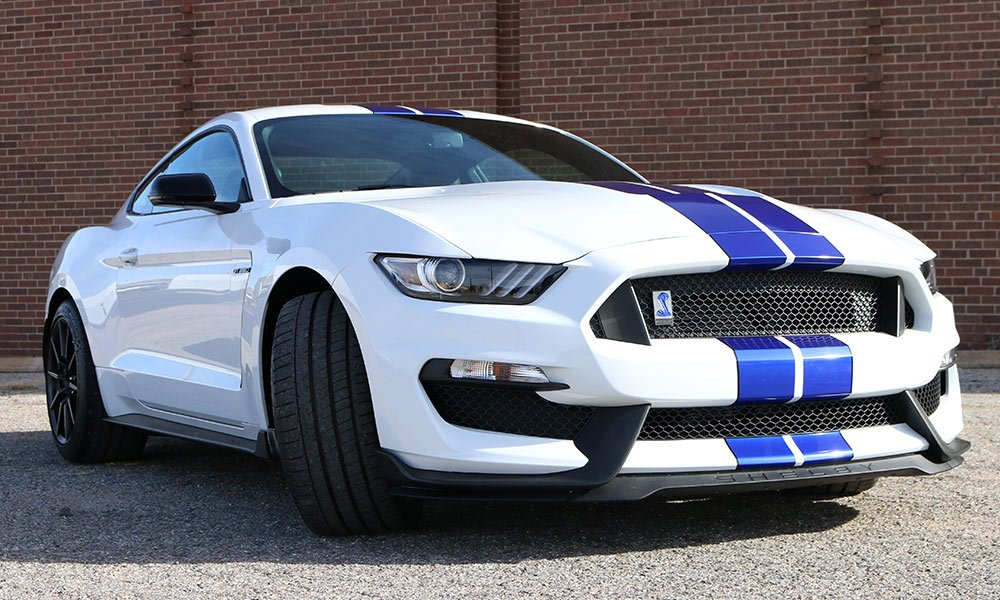 2016 Ford Mustang Shelby GT350 / GT350R Rally Stripes and Custom Matching Cobra Emblem Wrap by MightyWraps Car Wrap
