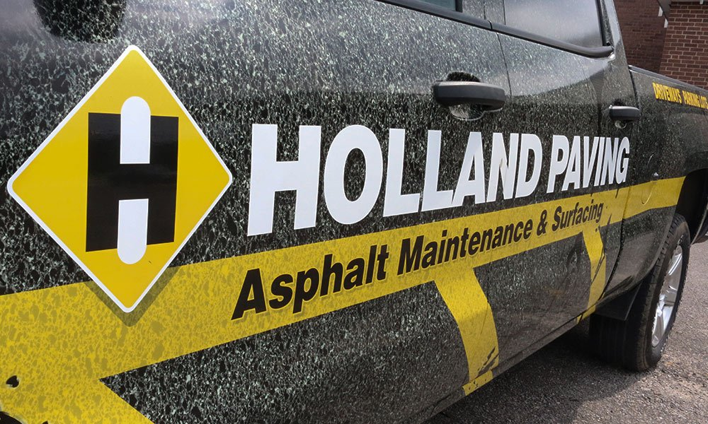 Holland Paving Full Coverage Fleet Truck Wrap by MightyWraps