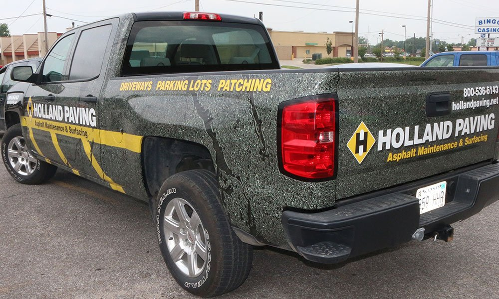 Holland Paying Chevy Full Coverage Fleet Truck Wrap by MightyWraps