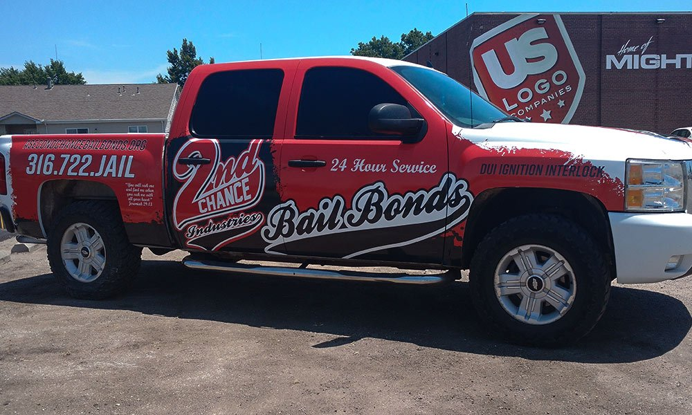 2nd Chance Bail Bonds Chevy Full Coverage Truck Wraps by MightyWraps