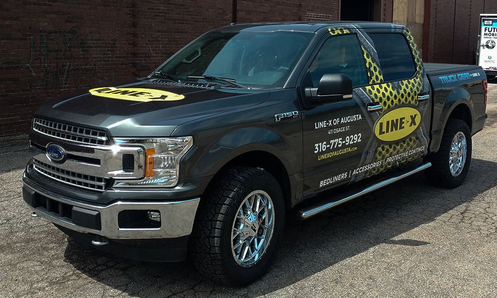 Line-X 2017 Ford F150 Patial Truck Wrap by MightyWraps