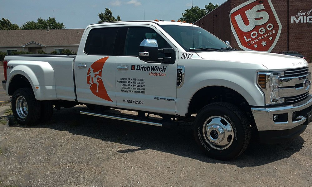Ditch Witch Undercon Ford F350 Spot Graphics Truck Wrap by MightyWraps