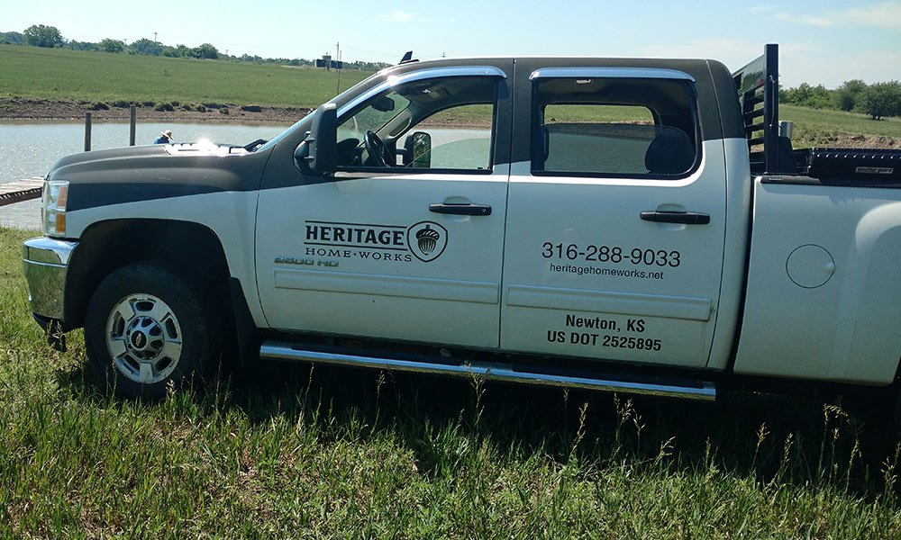 Heritage Home Works, LLC Custom Rural Home Builder Fleet Truck Wrap by MightyWraps