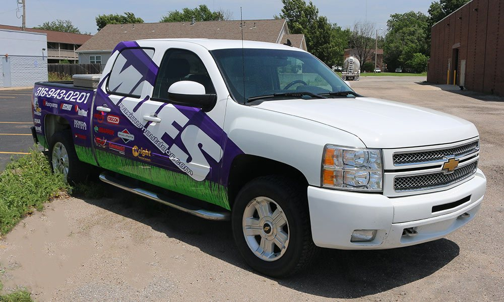 Maximum Outdoor Equipment Partial Coverage Truck Wraps by MightyWraps