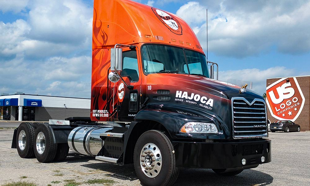 Hajoca Mack Truck Full Coverage Semi Truck Fleet Wrap