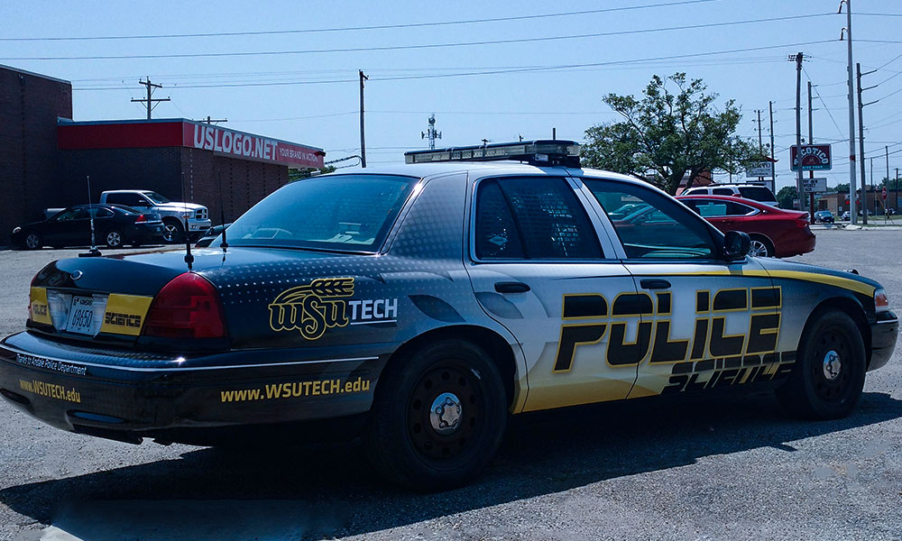 Wichita State University Police Science Ford Crown Victoria Car Wrap