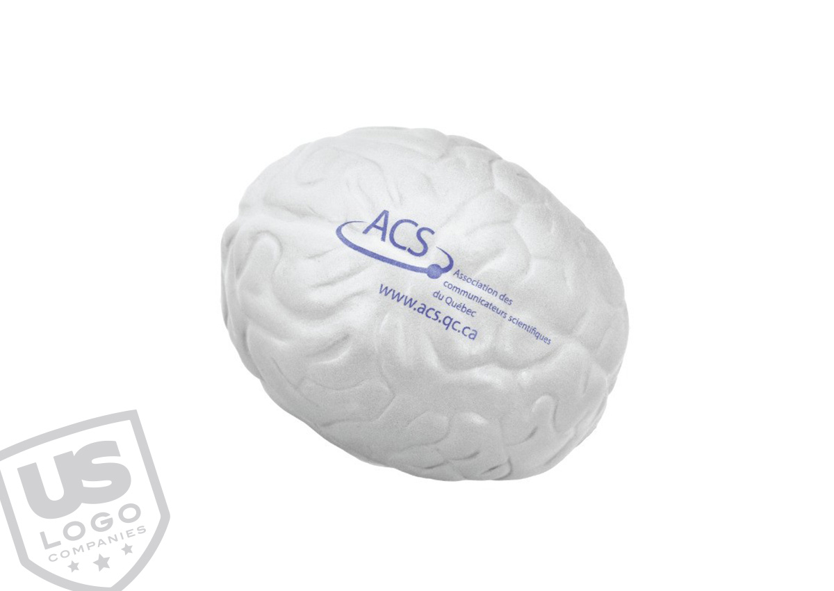 Promotional products to promote your business are a no brainer, even with this brain-shaped molded stress ball