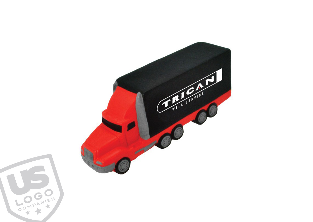Generate sales and increase lead for your trucking or moving company with a branded semi truck stress ball