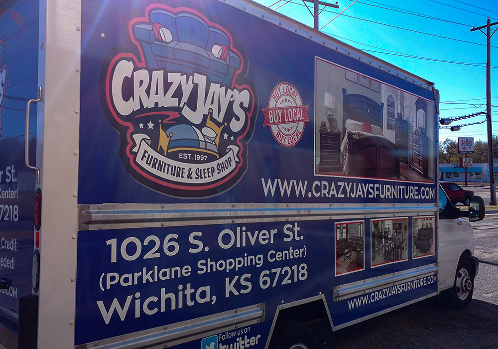 Turn your local shop into a well know local business with a box truck wrap.