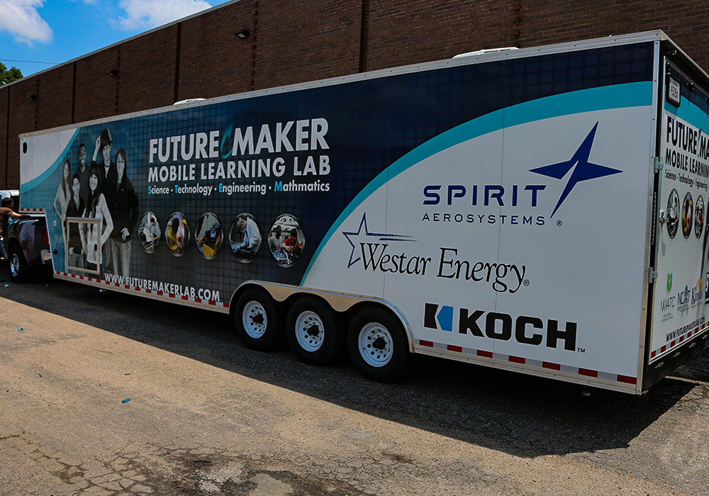 WSU Tech and Goodwill Industries of Kansas, Inc. FutureMaker Mobile Learning Lab Trailer Wrap