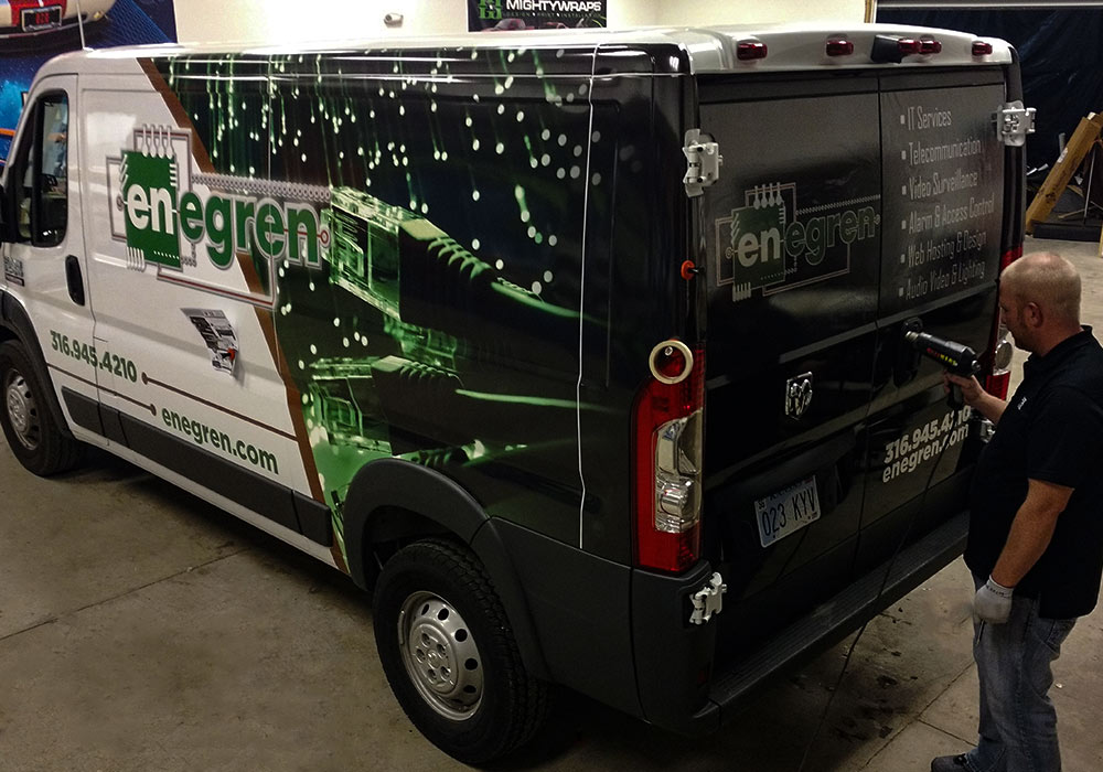 Engren Computer Services Fleet Partial Van Wraps