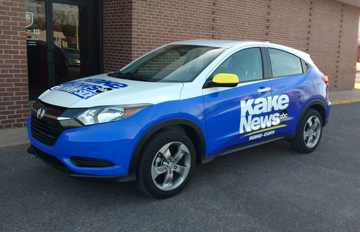 KAKE News On Your Side Fleet Car Wrap