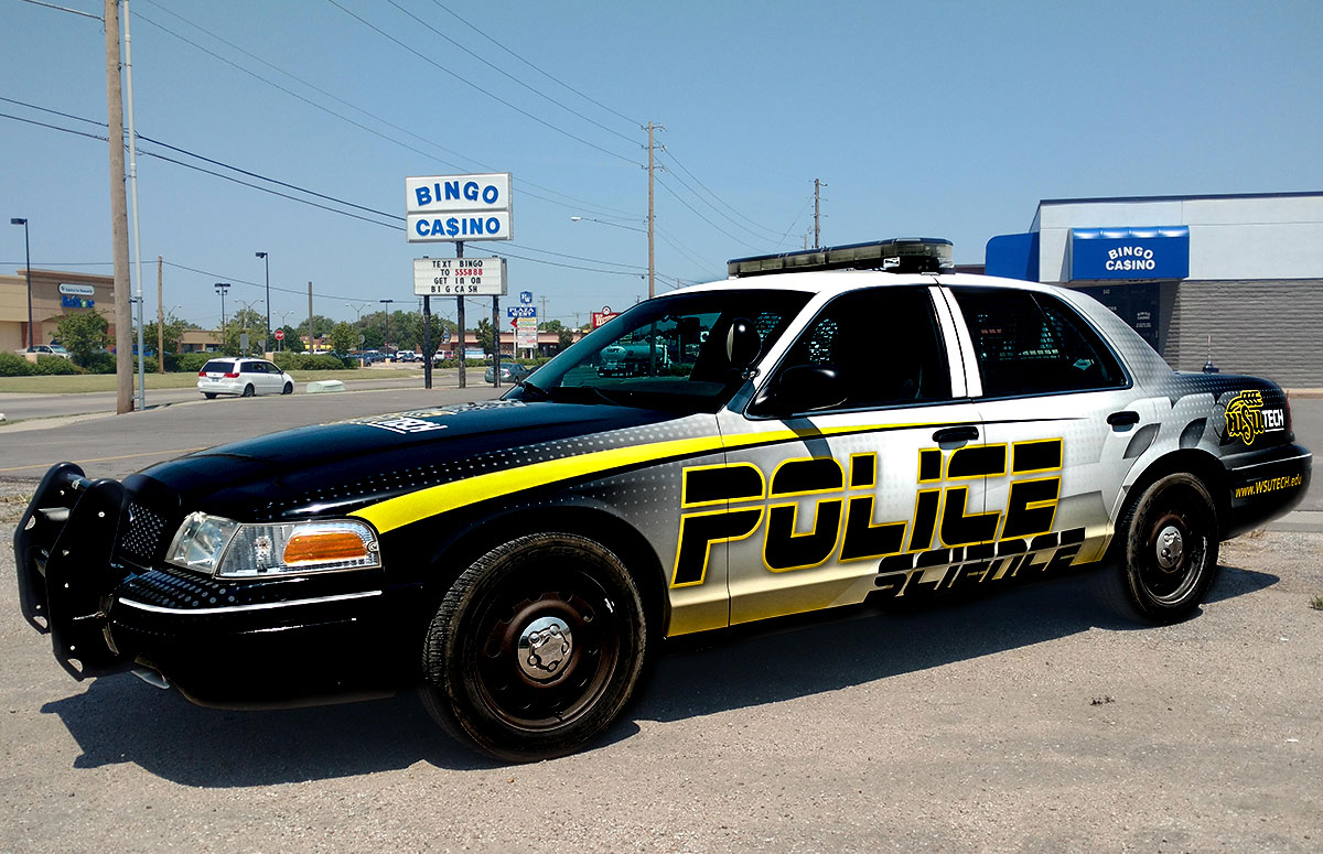 Wichita State Science Department Police Car Wrap
