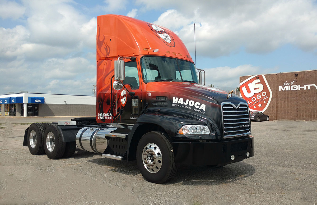 Hajoca Full Coverage semi wrap - Mack Truck Wrap