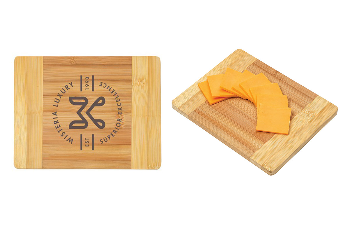 How about using these branded promotional cutting boards when offering sample of the latest food craze?