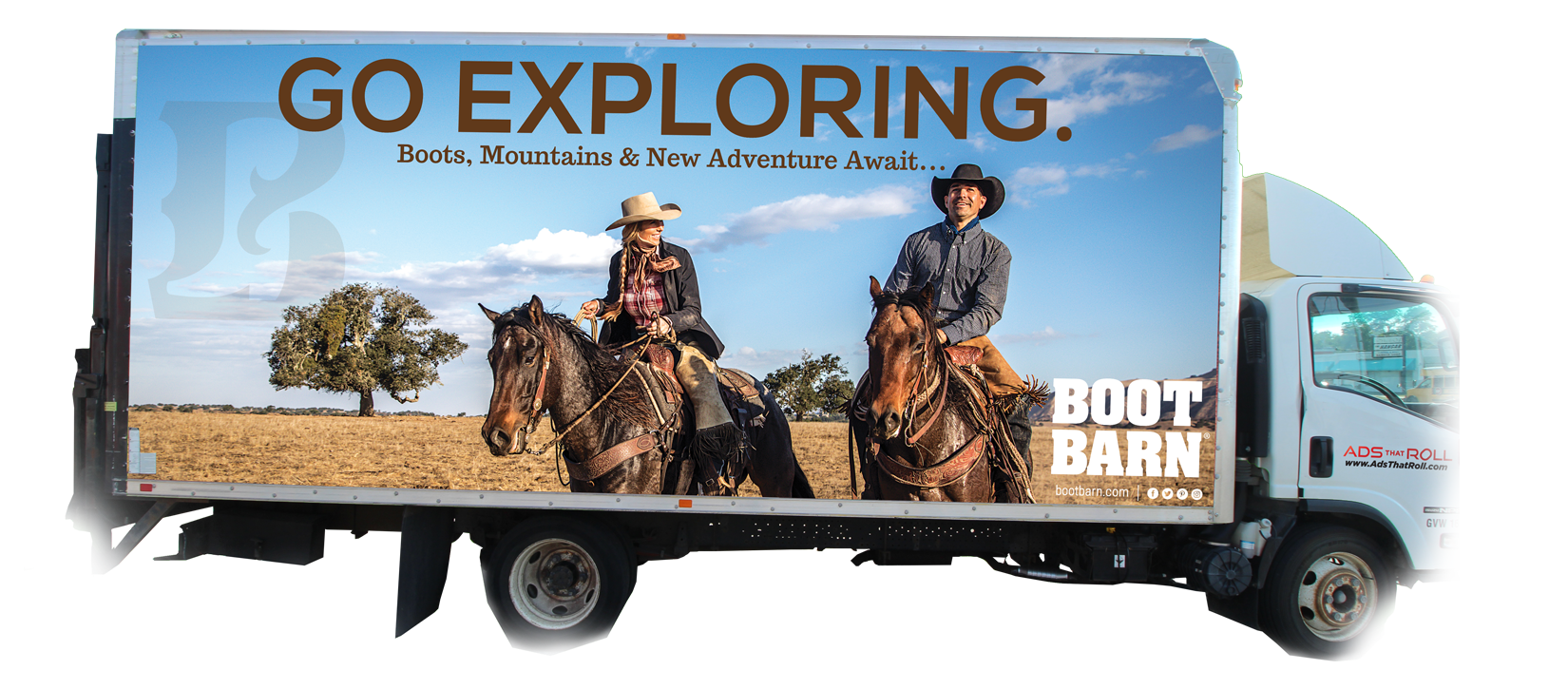 Boot Barn Ads that Roll Box Truck Advertisement