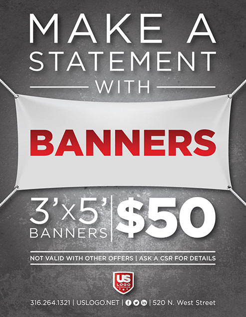 3' X 5' Banners On Sale for $50.00