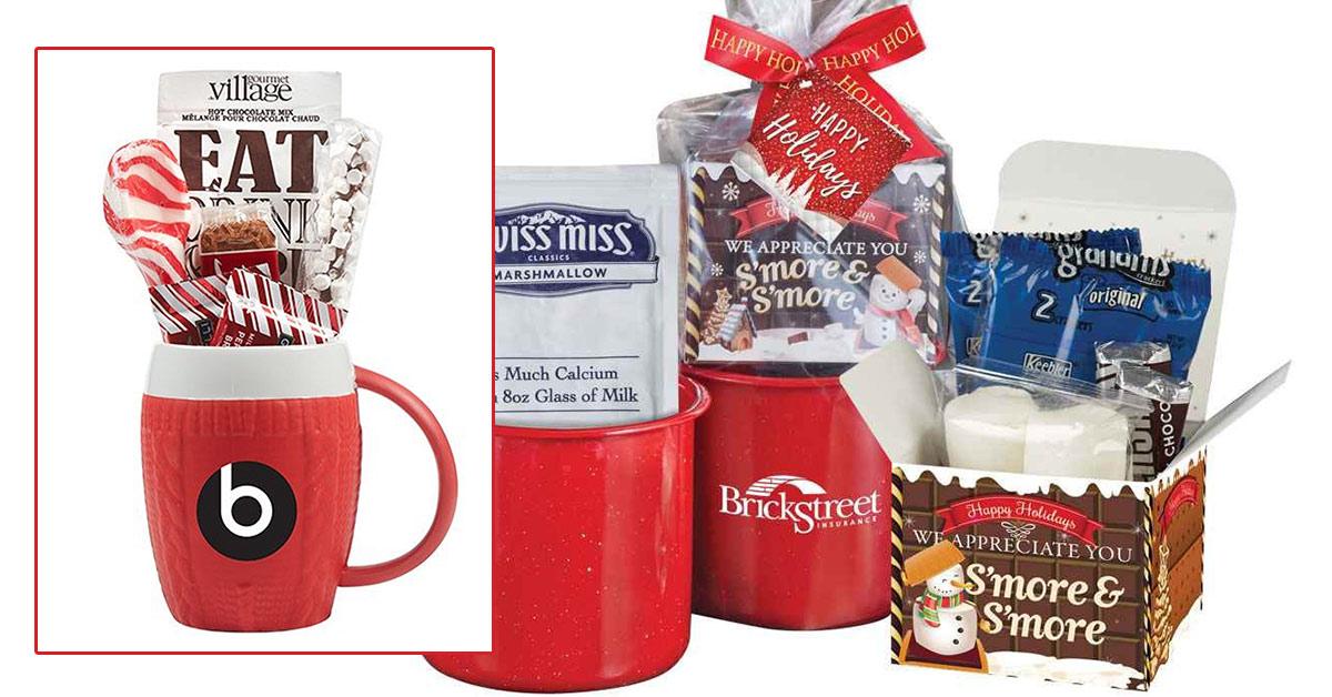 custom branded tea and cocoa sets