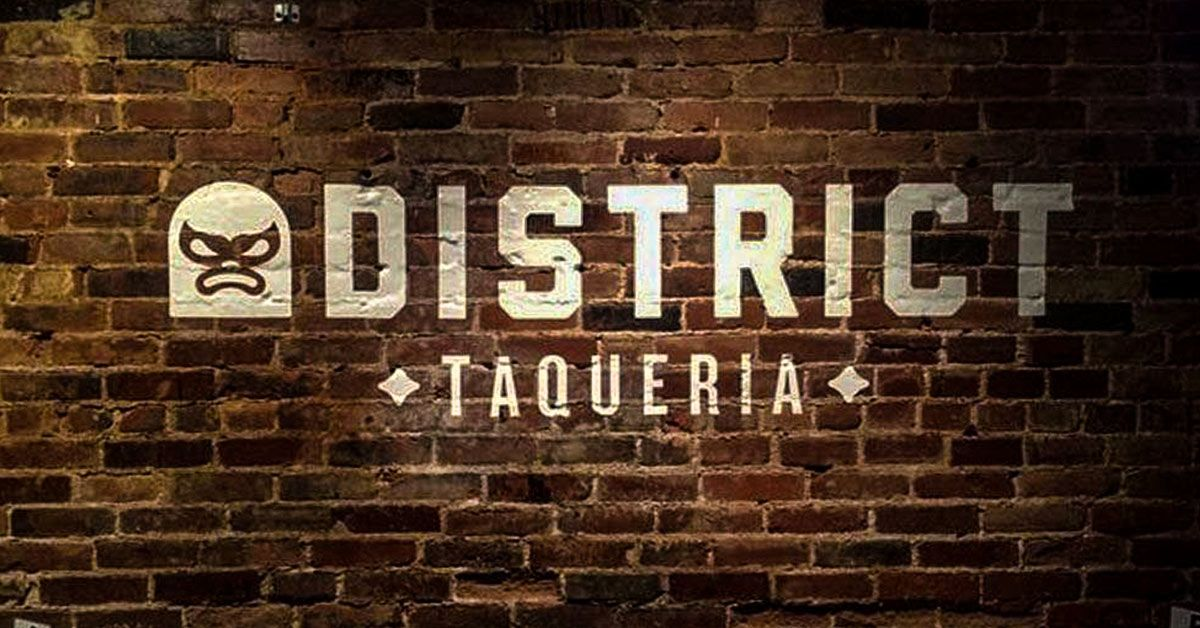 Bring Your Logo to Life with Environmental Graphics - Ditrict Taqueria Vinyl brick graphics