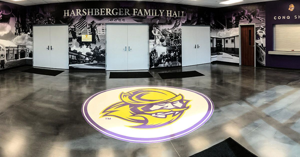Dodge City Community College floor, ceiling, and wall graphics in Dodge City Kansas