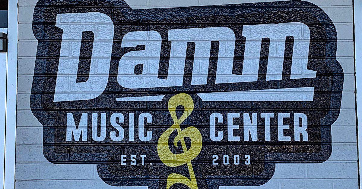 Damn Music Center Vinyl Brick Graphics