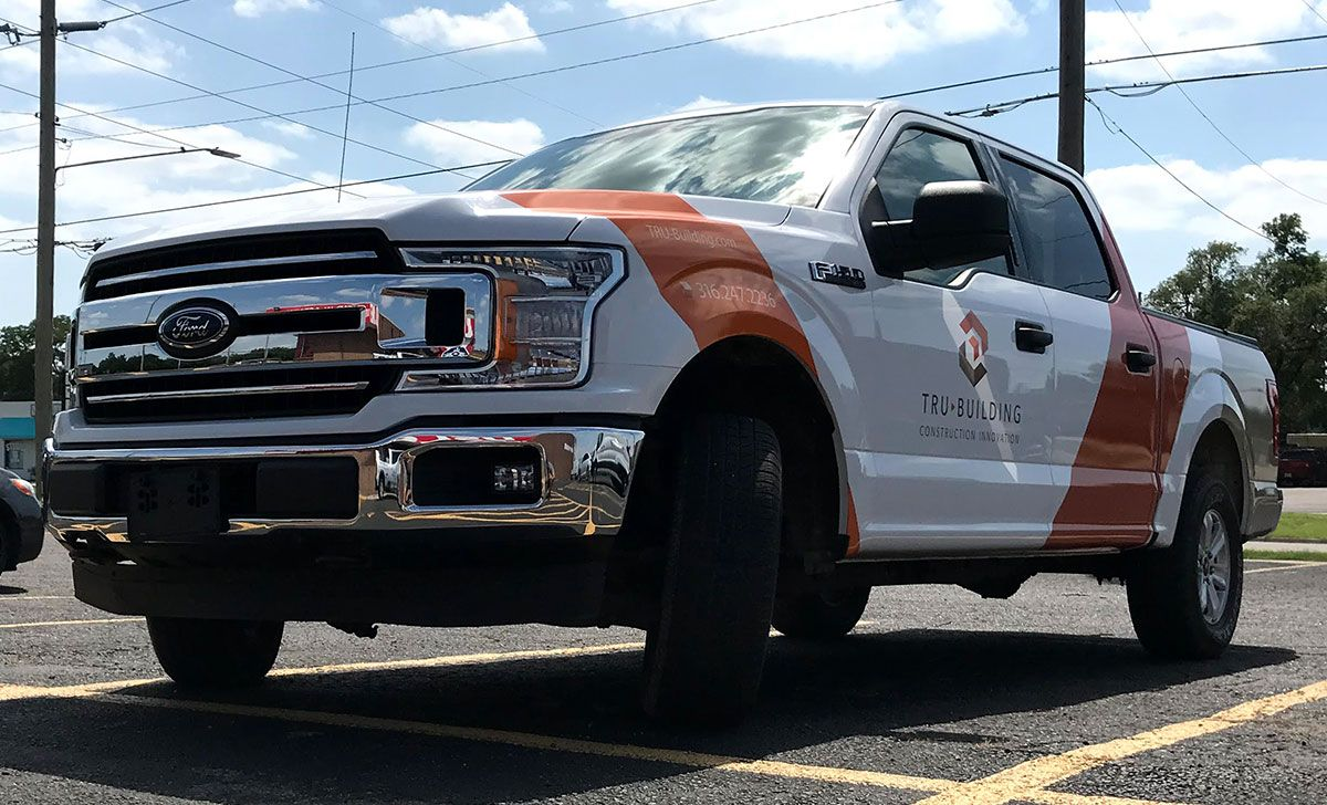 TRU-Building Ford F150 Truck Wrap by MightyWraps