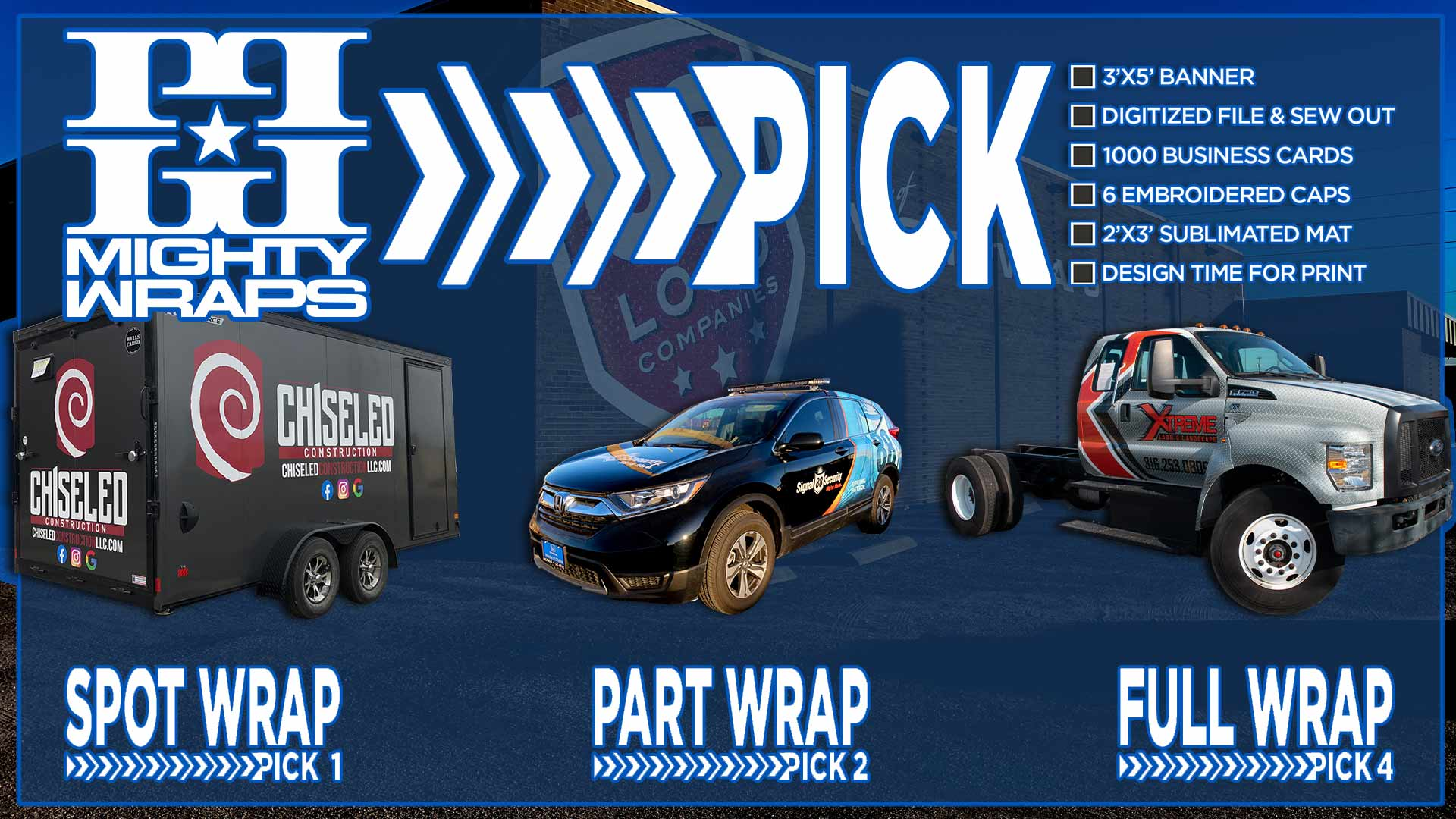 Pick 4, 2, 1 Vinyl Wrap Offer - Pick 4 Full Coverage Wrap Special